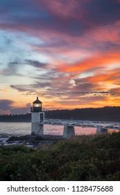 Marshall Point Light Sunset Vertical - Port Clyde, Maine, USA