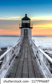 Marshall Point Lighthouse Walkway - Port Clyde, Maine, USA