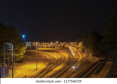 Marshalling yard with tank car in a chemical plant
