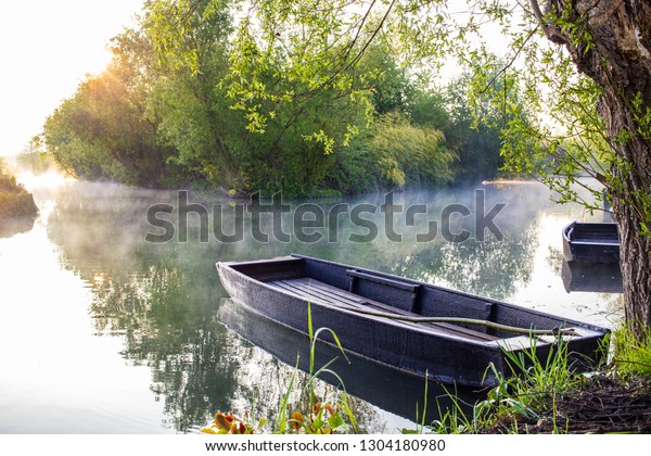 Marshes in Bourges, Berry province, Centre-Val de Loire, France