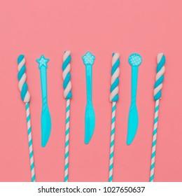 Marshmallow Blue set Candy minimal fashion mood