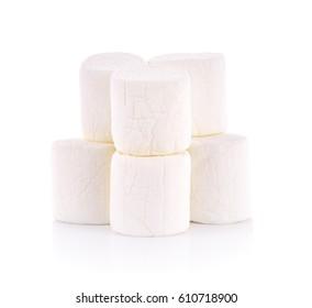 marshmallow candyl on white background
