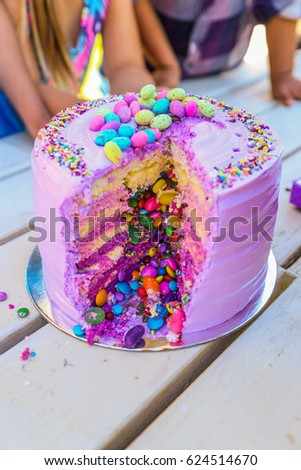 Marshmallow Rainbow Cake Filled Candy Kids Stock Photo Edit Now