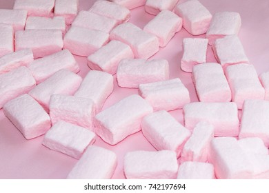 Marshmallows. Background or texture of colorful marshmallows.