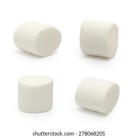 Marshmallows isolated on white background