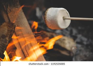 marshmellow over fire
