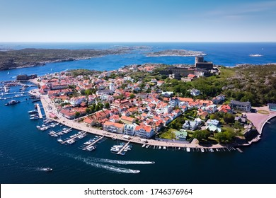 Marstrand, Sweden - 30 May 2019. The island of Marstrand photographed during a sunny day.