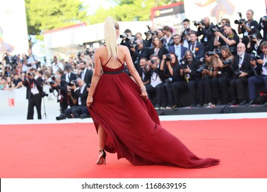 Marta Pozzan walks the red carpet ahead of the opening ceremony during the 75th Venice Film Festival at Sala Grande on August 29, 2018 in Venice, Italy.