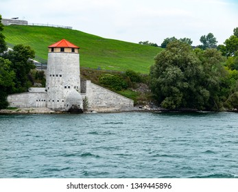 Martello Tower on St Lawrence River, Ontario, Canada