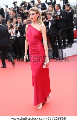 5eeafe3ed23 Martha Hunt attends  Amant Double (L Amant Double )  Red Carpet Arrivals  during the 70th annual Cannes Film Festival at Palais des Festivals on May  26
