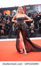 Martha Hunt walks the red carpet ahead of the Opening Ceremony  during the 76th Venice Film Festival at Sala Grande on August 28, 2019 in Venice, Italy.