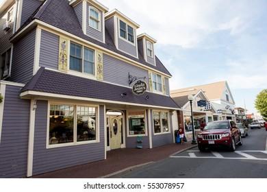 MARTHA'S VINEYARD, MA-September 2, 2016: Street scene in Martha's Vineyard. The 2010 census shows that 16,535 residents call Martha's Vineyard home.