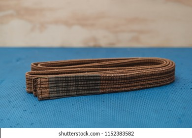 Martial Arts Brown Belt Brazilian JiuJitsu folded side view 2