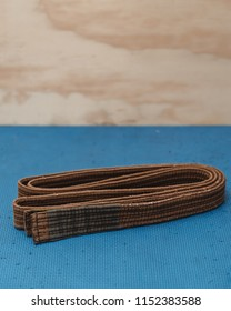 Martial Arts Brown Belt Brazilian JiuJitsu folded vertical