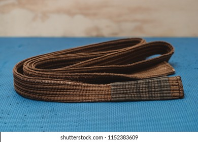 Martial Arts Brown Belt Brazilian JiuJitsu medium 2 folded