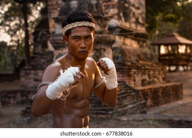 Martial arts of Muay Thai,Thai Boxing, Muay Thai,Thailand.