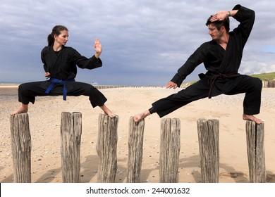 Martial Arts on poles