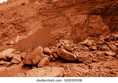 Martian landscape of a lost wadi