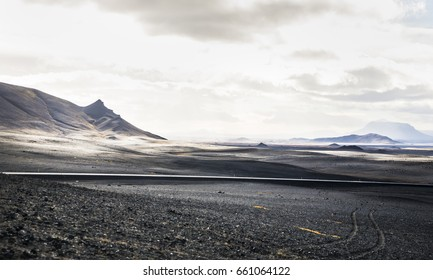 Martian landscape - Rocky road - Rocky landscape in Iceland. Looks like an image straight from Mars