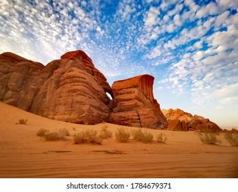 Martian landscapes in the Wadi Rum desert - Shutterstock ID 1784679371