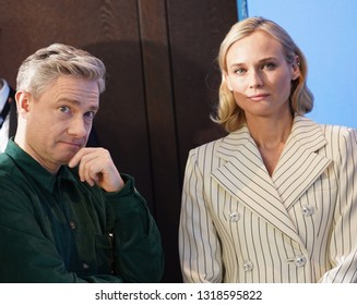 Martin Freeman, Diane Kruger at the 'The Operative' (Die Agentin) photocall during the 69th Berlinale Festival Berlin at Grand Hyatt Hotel on February 10, 2019 in Berlin, Germany.
