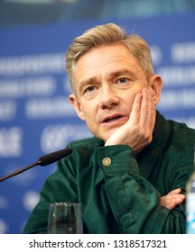 Martin Freeman is seen at the 'The Operative' (Die Agentin) press conference during the 69th Berlinale International  Festival Berlin at Grand Hyatt Hotel on February 10, 2019 in Berlin, Germany.