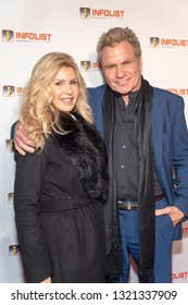 Martin Kove with wife Vivienne Kove attend 2019 InfoList's Pre-Oscars Soiree at Skybar at the Mondrian Hotel, West Hollywood, CA on February 20th, 2019