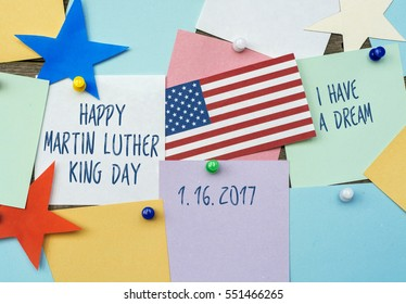 Martin Luther King Day background 2017 date January 16