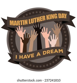 Martin Luther King Day Badge Icon