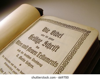 Martin Luther's translation of the Bible into German.