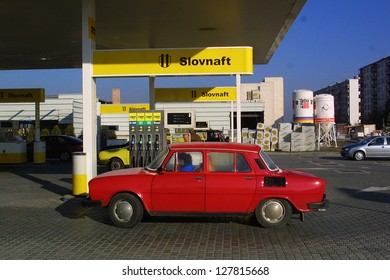 MARTIN - OCTOBER 23: A Slovnaft gas station in Martin, Slovakia, on October 25, 2003. Slovnaft is Slovakia' leading retailer and wholesaler of oil, gasoline and natural gas.