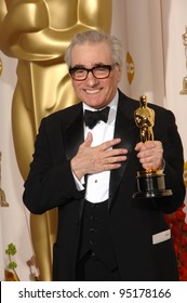 """Martin Scorsese - director of """"The Departed"""" - at the 79th Annual Academy Awards at the Kodak Theatre, Hollywood. February 26, 2007  Los Angeles, CA Picture: Paul Smith / Featureflash"""