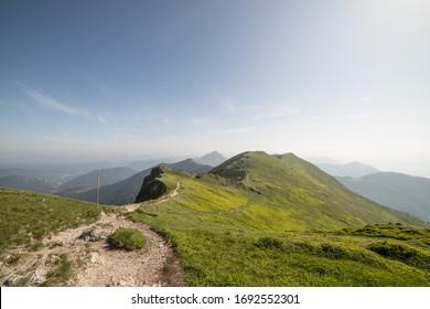 MARTIN, SR - june 15, 2019: View from Chleb, peak in Mala Fatra - Shutterstock ID 1692552301