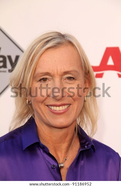 """Martina Navratilova at the AARP Movies For Grownups Premiere of """"The Way,"""" Nokia Theater, Los Angeles, CA 09-23-11"""