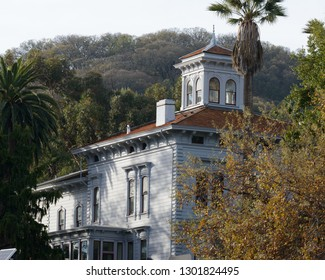 Martinez, California / U.S.A - December 7, 2018: An image of the John Muir house at the John Muir Historical site in Martinez, California.