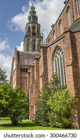 Martini church and tower in the center of Groningen, The Netherlands