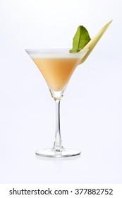 Martini garnish with lemongrass serve in a martini glass