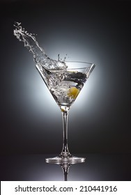 martini glass splash vodka cocktail
