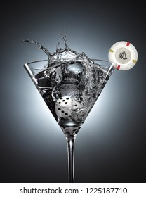 Martini vodka cocktail casino