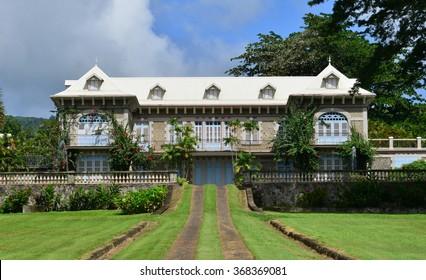 Martinique, the Depaz distillery in Saint Pierre in West Indies