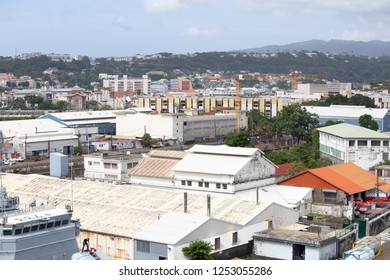 MARTINIQUE FRENCH ANTILLES ON DEC 4, 2017: Cityscape in Fort-de-France  Martinique island French Antilles Caribbean sea
