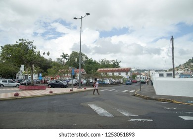 MARTINIQUE FRENCH ANTILLES ON DECEMBER 4, 2017: Cityscape in Fort-de-France  Martinique island French Antilles Caribbean sea
