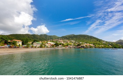 Martinique Island. Beautiful Le Diamant beach and village, Martinique, Caribbeans.