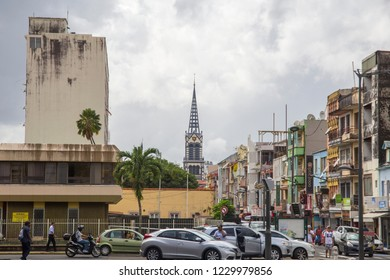 MARTINIQUE ISLAND FRENCH ANTILLES  CARIBBEAN ISLANDS ON DECEMBER 2018: Fort-de-France on December 4, 2017 Martinique island French Antilles Caribbean sea