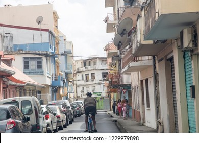 MARTINIQUE ISLAND FRENCH ANTILLES  CARIBBEAN ISLANDS ON DECEMBER 2018: Fort-de-France on December 4, 2017 Martinique island French Antilles Caribbean sea