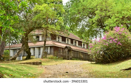 Martinique, the picturesque Habitation Clement in Le Francois in West Indies