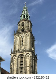 The Martinitoren in the city of Groningen, The Netherlands