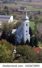 MARTINSKA VES, CROATIA - OCTOBER 07: Parish Church of Saint Martin in Martinska Ves, Croatia on October 07, 2007.