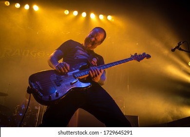 Martyn Millard bassist from Orange Goblin, live at o2 ritz manchester uk, 30th october 2018