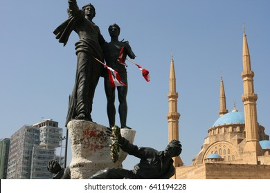 Martyr square, Beirut.